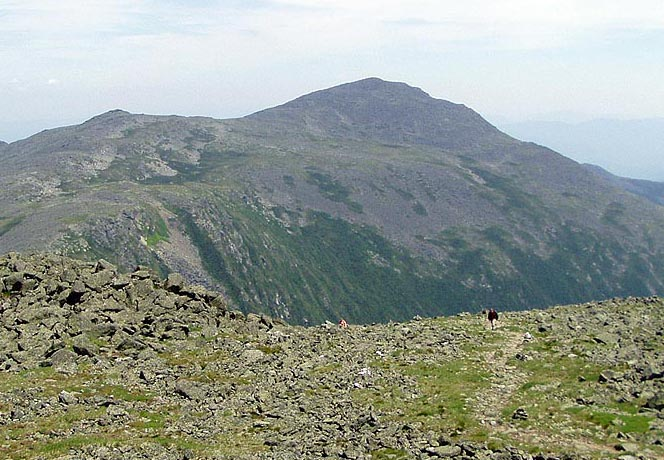 The rocky approach to Mt. Adams