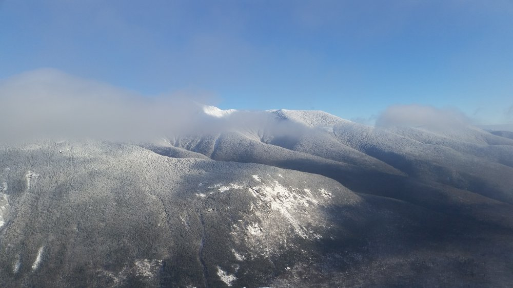 View of Franconia Ridge from Cannon in January