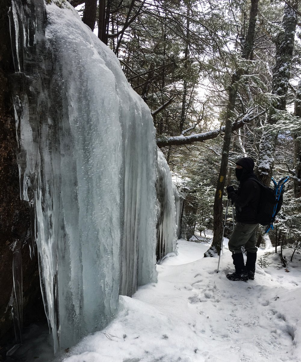 After stumbling across this ice curtain we spent a long time looking at it.