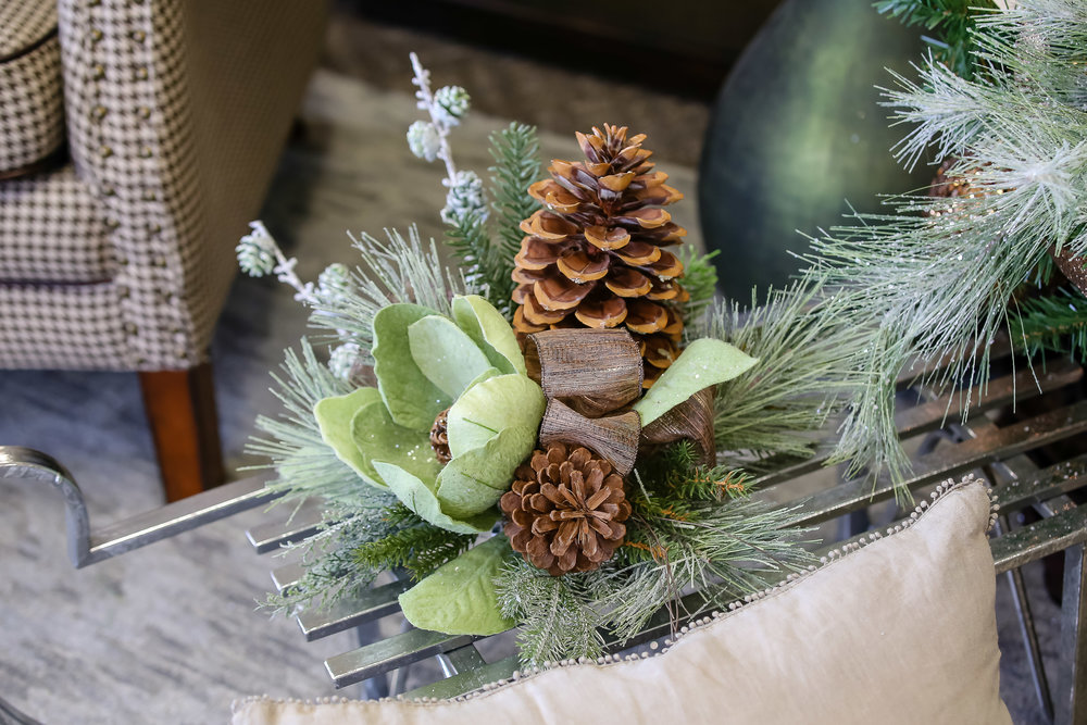 Need some help with your holiday decor? The talented designers at  Forget Me Not  are happy to help create a custom floral arrangement that complements your home decor!
