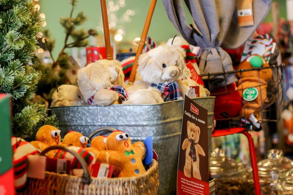 Fluff and Tuff toys are #1 at  Shop Dog Boutique ! Check out the Nicholas Holiday Bear—100% of proceeds go to animal related charities!