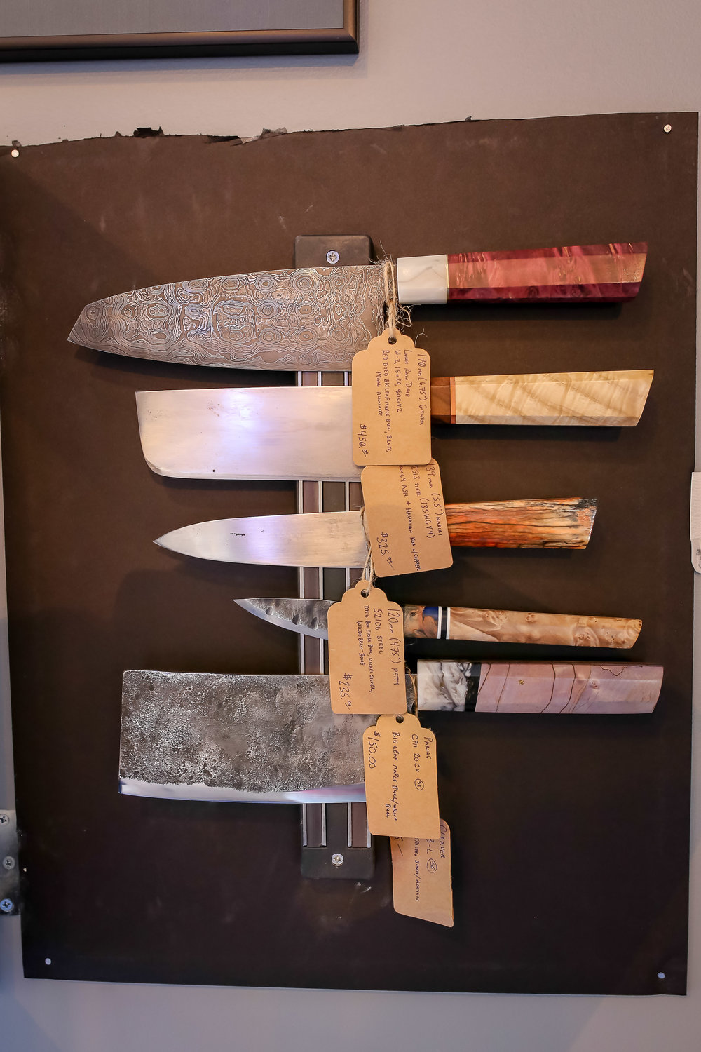 Rugged, handcrafted knives made in the Black Hills by a second generation Blacksmith, as beautiful and unique as the people on your gift list. Find yours at  Dakota Seafood .