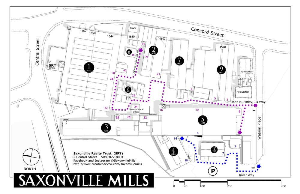 saxonville mills Site plan. click to enlarge.