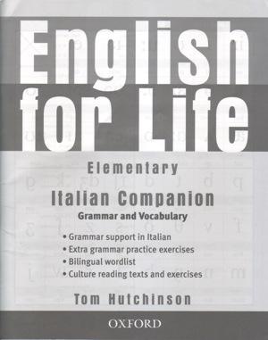 English for Life Elementary Italian Companion Grammar and Vocabular