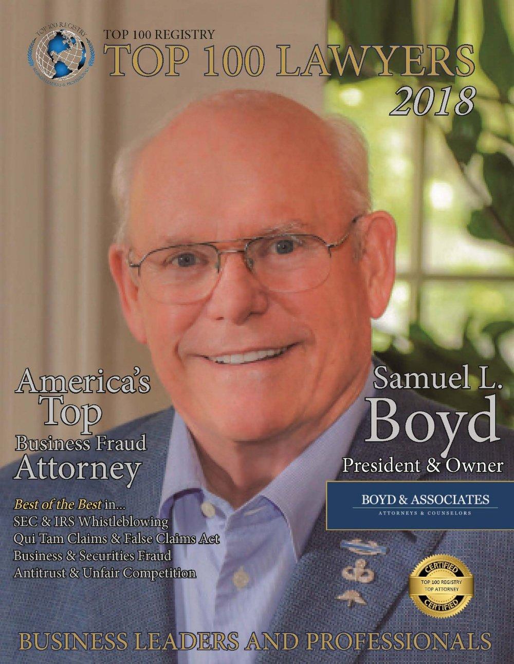2018 Top 100 Lawyers Magazine