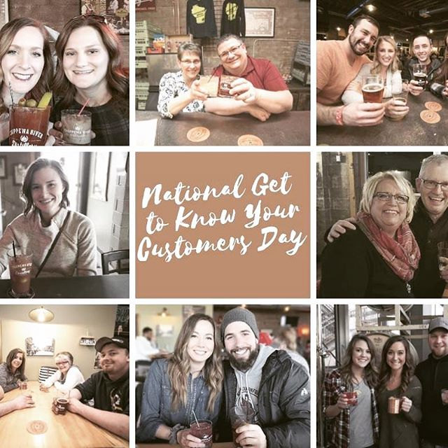 Thanks for stopping in! #nationalgettoknowyourcustomersday #wicraftbeer #wicraftspirits #drinklocal #chippewafalls