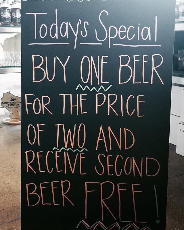 #happyfriday #cheerstotheweekend #breweryhumor #wicraftbeer #drinklocal #chippewafalls