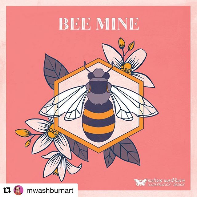 Check out this sweet honeybee valentine from @mwashburnart ! Get yours by signing up for the Crush Illustration newsletter at http://eepurl.com/dj5SPn  #Repost @mwashburnart with @get_repost ・・・ Here's my valentine for this year's @crushillustration valentines sheet! You can get your printable valentines by the whole Crush crew by signing up for our newsletter here: http://eepurl.com/dj5SPn . . . . #honeybee #bees #insectvalentine #freevalentines #greetingcards #greetingcardillustration #weareillustrators #natureillustration #illustrationanddesign #bugart #hotpink