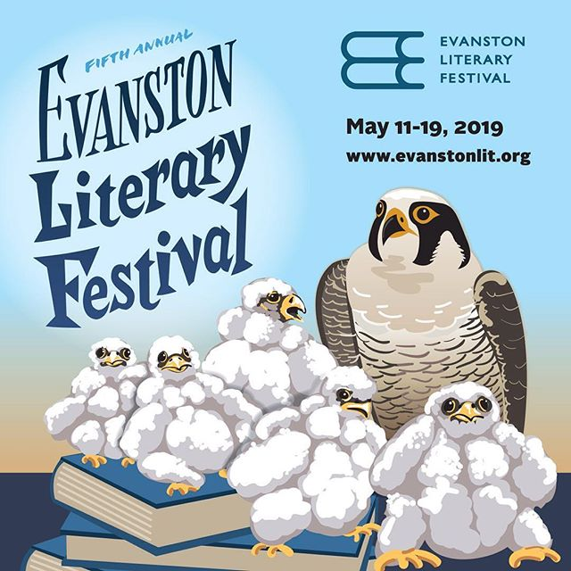 From @judithmayercreative  Guys, peregrine falcon chicks look like muppets! And I illustrated some for Evanston Lit Fest this year because their library has a #falconcam for the falcons that nest there March-June--every year since 2004. Also it's the city of Chicago's official bird. #birdsofinstagram #falcons #illustration #birdillustration #peregrinefalcons