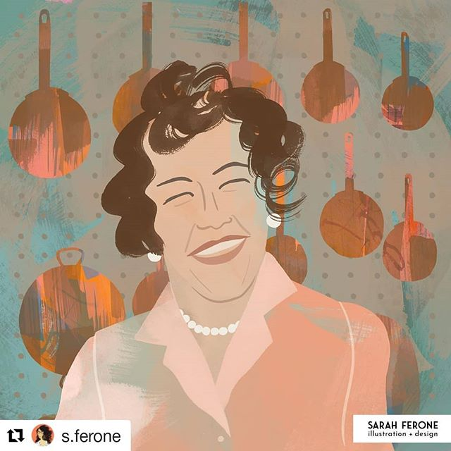 "Continuing with the March Portrait Challenge, Sarah Ferone tackles the beloved Julia Child. Check out @s.ferone for more portraits. ・・・ #Repost @s.ferone (@get_repost) ・・・ Julia Child for #portraitchallenge_2019. I'm stretching this a little, but Julia is my ""actress"" for the March Portrait Challenge. While not really an actress, she had a beloved television show The French Chef on PBS that changed the way America cooked. I love how she embraced mistakes and rolled with the process.⁣ • • •⁣ #illustration #illustrationage #JuliaChild #theydrawandcook #thefrenchchef #illustratedportrait #editorialillustration #illustratedladies #womenshistorymonth  #independentwomen #womenwhodraw #sarahferone #twitter⁣ ⁣"