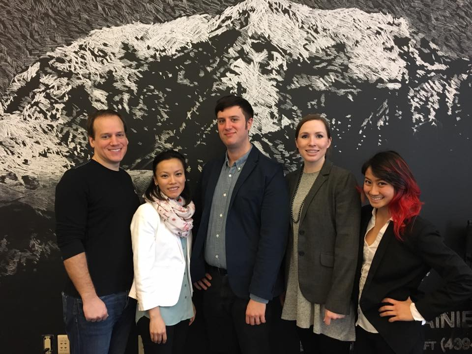 (from left to right)  David Lowe, Yumei Tsang, Andrew Clementi, Sophia Gallant, Jenni Hoang