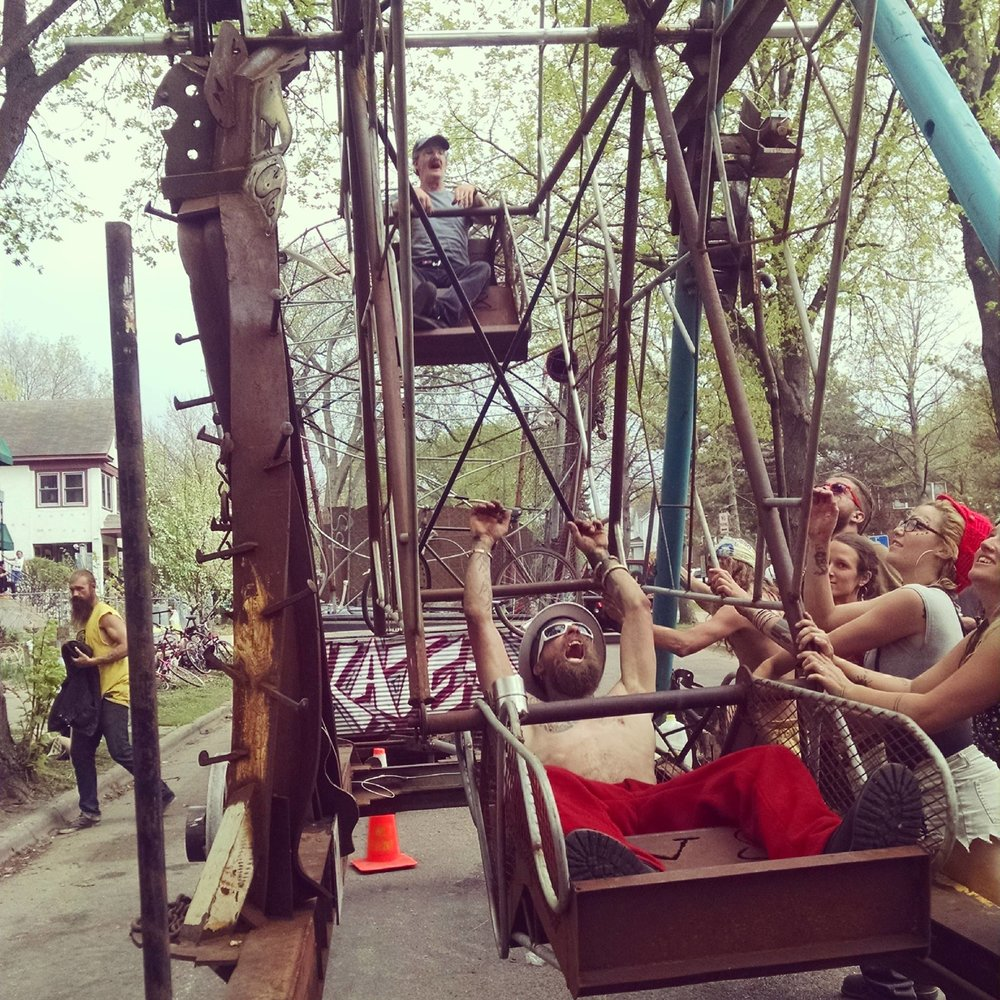 Ferris wheel, 2015.