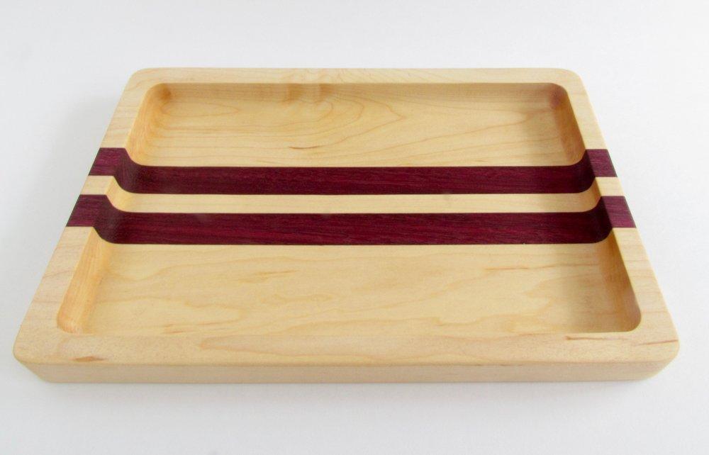 Maple & Purpleheart Valet Tray