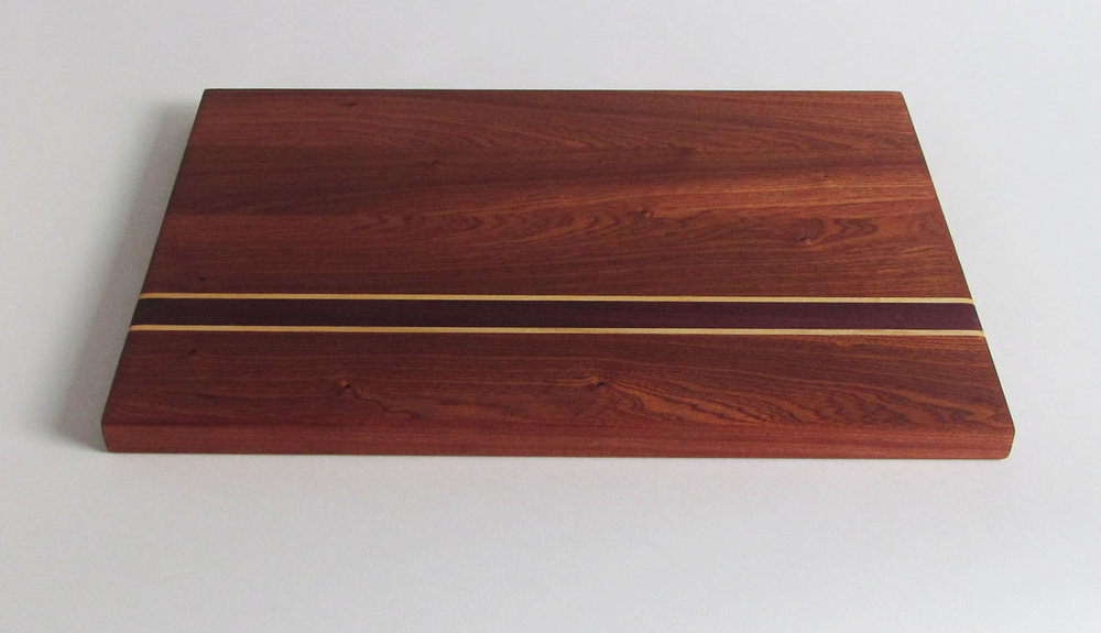 Cutting Board. Sapele, Maple & Purpleheart.