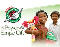 Operation Christmas Child  -Families in the church packed 25 shoebxoes for children all over the world.