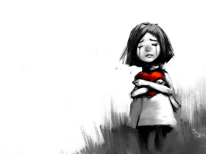 Crying Girl with Red Heart.jpg