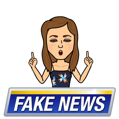 Don't let your news be as fake as this bitmoji...