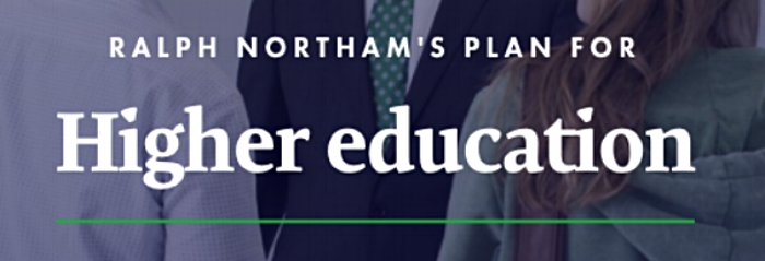 Click the photo to read Northam's entire higher ed policy.