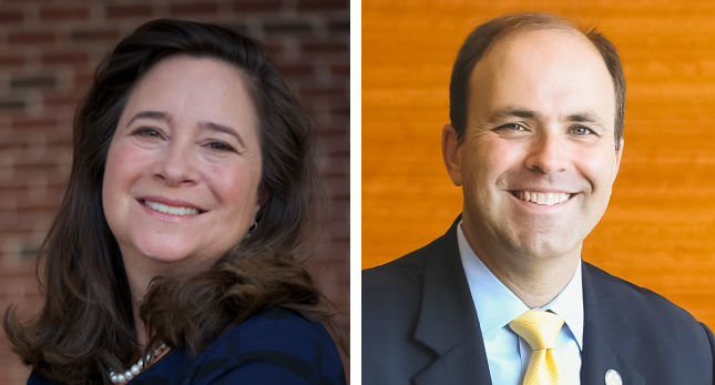 2017 94th District House of Delegate Candidates Shelly Simonds (Left), David Yancey (Right)