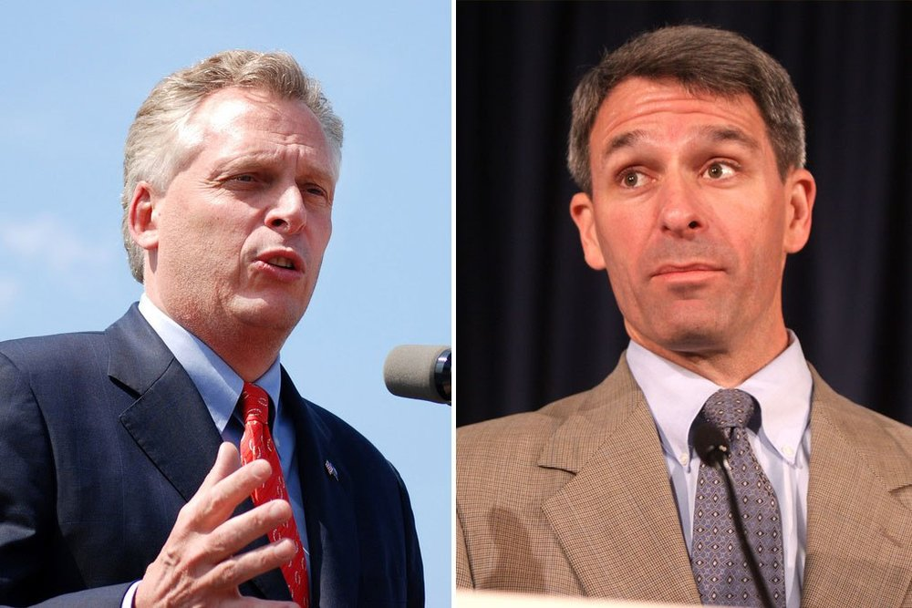 2013 Gov. Candidates: Terry McAuliffe  (Left), Ken Cuccinelli (Right)   Difference in Votes:  56,435