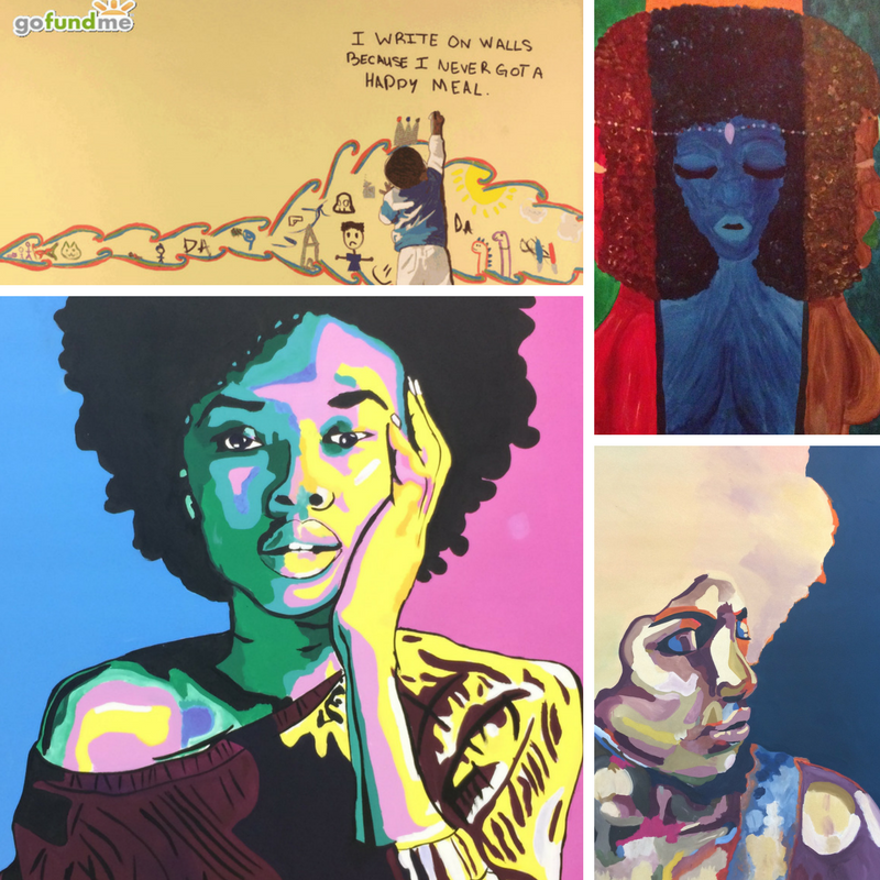 All artwork done by Azuree Dodson, this year's recipient.