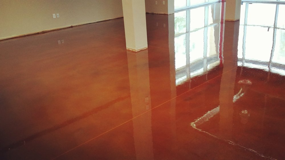 leather color concrete stain