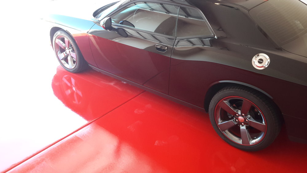 this floor compliments the car tremendously. or does the car compliment the floor??