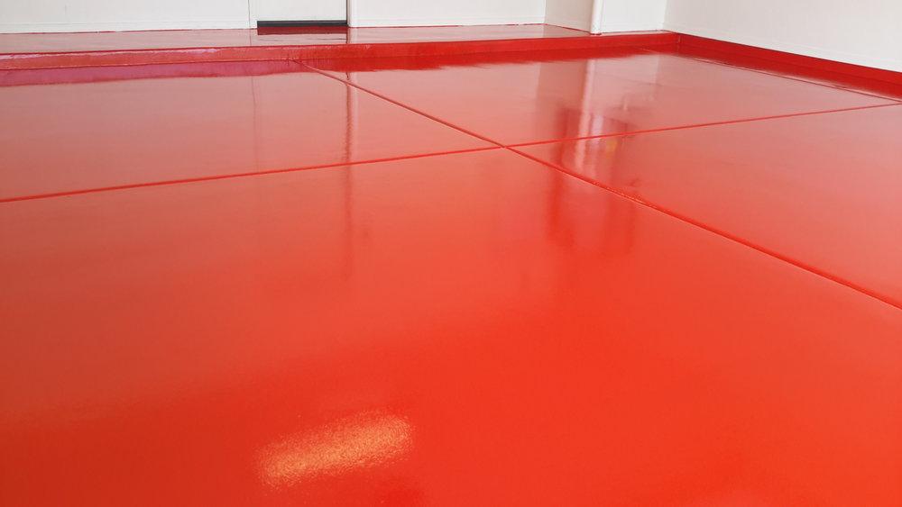 safety red garage floor coating