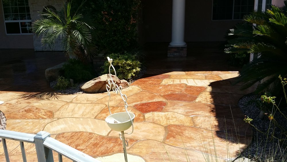 SEALED FLAGSTONE MAKES THIS SPACE LOOK BETTER THAN NEW!