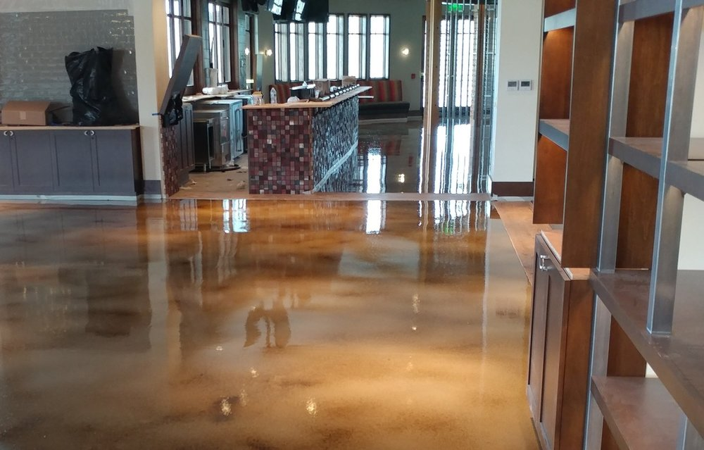 Stained Concrete - Interior and Exterior Examples