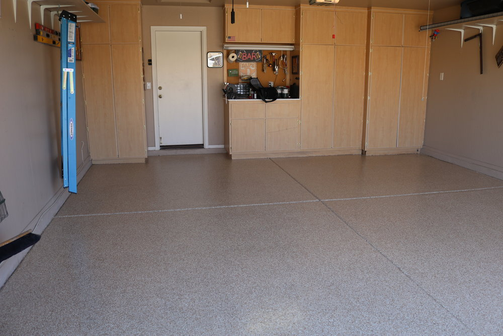 Garage and Patio - Create a platform for entertainment while increasing the value and aesthetics of your property with easily maintained and durable concrete coverings.