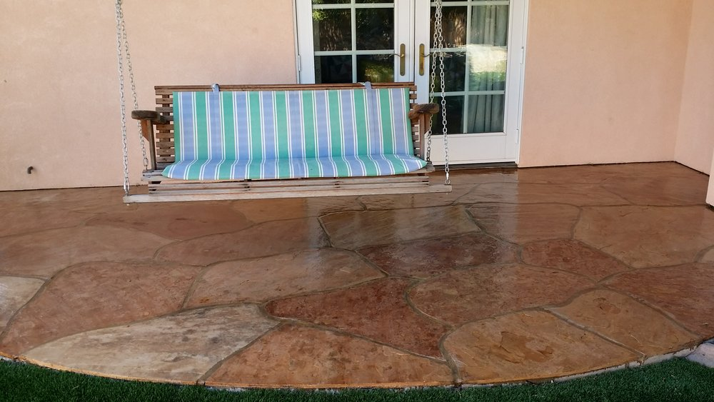 Overlays - Overlays are generally used in exterior spaces and there are hundreds of different types- faux flagstone, Kool deck, Pebble tech and stamped. Contact us to learn more about all of your overlay options when remodeling your exterior spaces. Overlays can also work in basements to create an