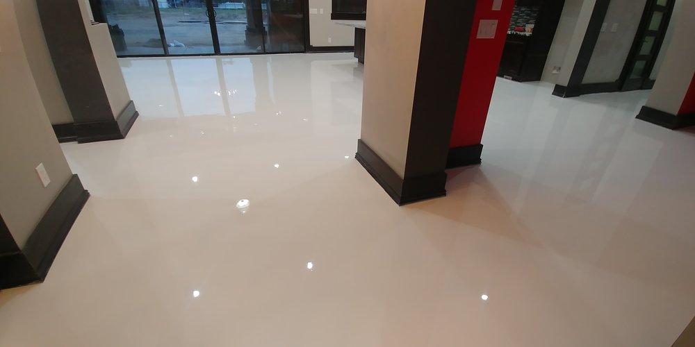 solid white high gloss epoxy interior home