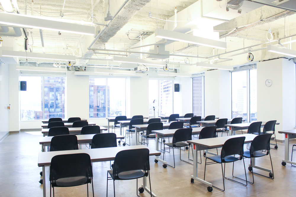 Lighthouse West: Classroom setup for 30 people