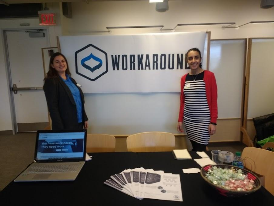 WorkAround Co-Founders Jennie Kelley (left) and Wafaa Arbash. (Photos courtesy of Arbash)