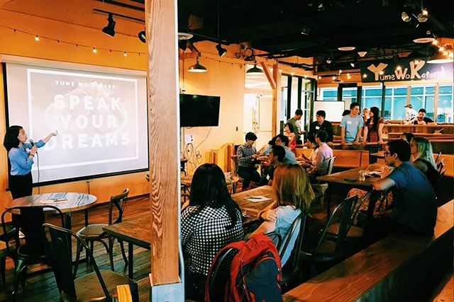 Last night's #SpeakYourDreams event with @yume_wo_katare was so much fun! (Not to mention tasty)