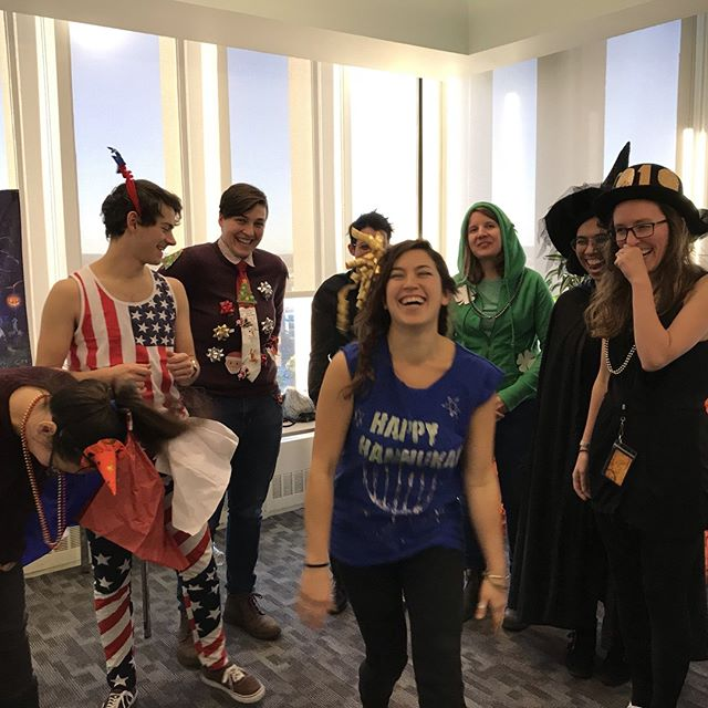 Happy Halloweekend from the Uptown Community Team at CIC Cambridge! Halloween not your jam? Pick any other holiday to dress up as 👻 #festive