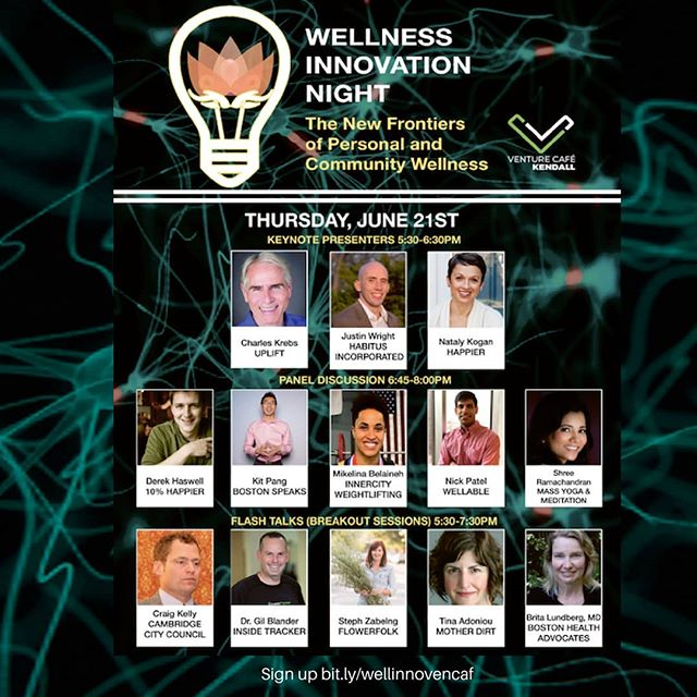 Wellness Innovation night! #venturecafe #wellness #innovation register:  bit.ly/wellinnovencaf