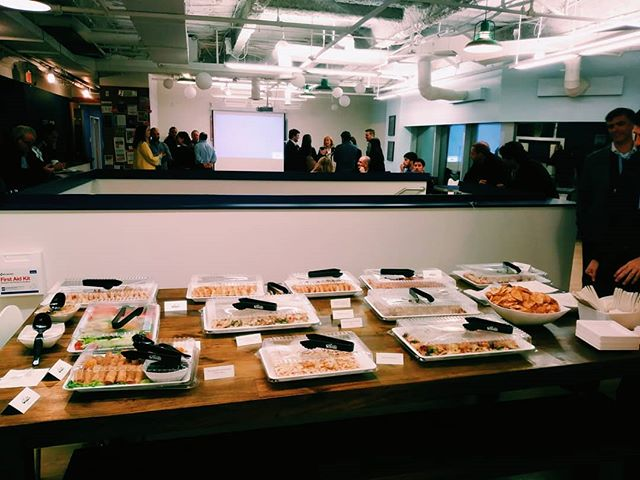 Hiding out in the office from the weather? Come get a taste of Uruguay with our Uruguay Tech Industry Night at 101 Main St. Right now!