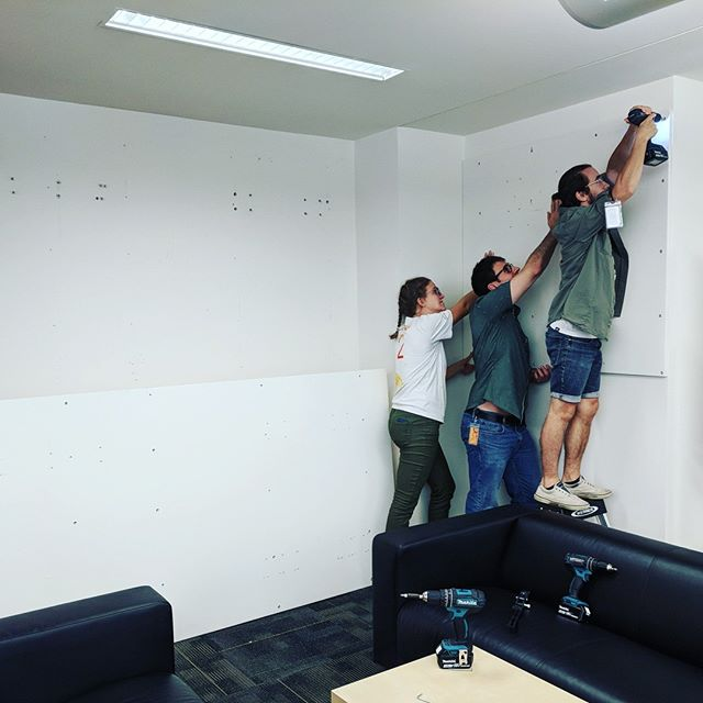 This is not a drill...or is it? Behind the scenes of prepping offices for new members to move in. Our trick for getting the job done: TEAMWORK! . . . . . #teamwork #coworking #innovation #startup #entrepreneur #cambridge #kendallsquare #workspace #startuplife