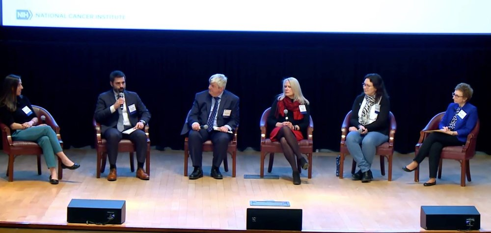 Palma speaks on a panel at 2019 Rare Disease Day at the National Institutes of Health.