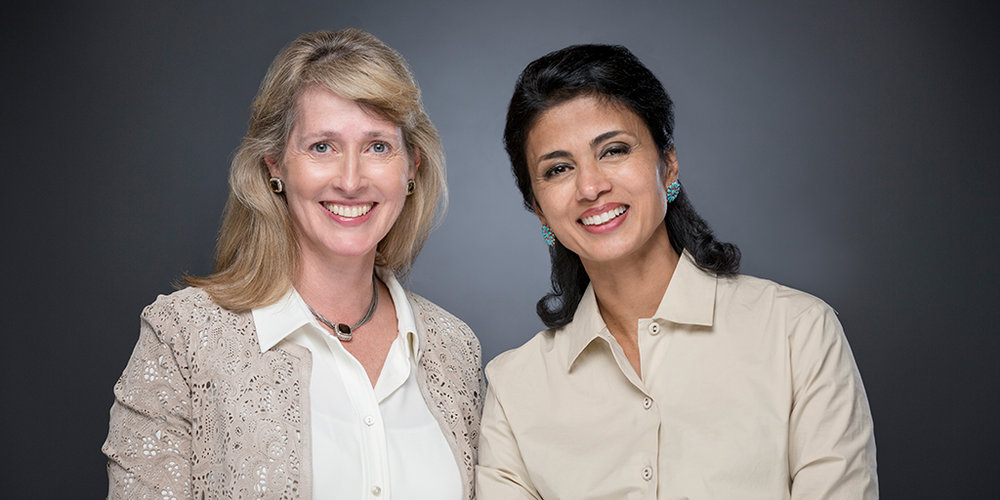 Converge cofounders and CIC Cambridge members Maia Heymann, left, and Nilanjana Bhowmik. Photo courtesy of Converge.