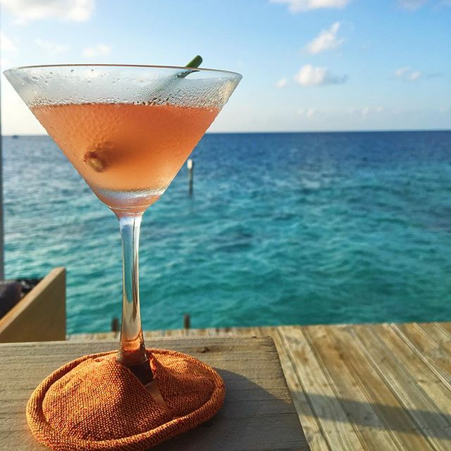 Fact 1: alcohol in the Maldives is illegal except for special permits at resorts. Fact 2: #wine is expensive because of fact 1. Fact 3: some cocktails are worth the price to have in hand as the sun sets over the #indianocean.  #winelover #winetime #travel #drinkup #sunset #maldives #cocktails #lemongrass #ocean #ilovewine #winery #foodandwine #startup #drinks #martini #bottomsup #instawine #instadrink