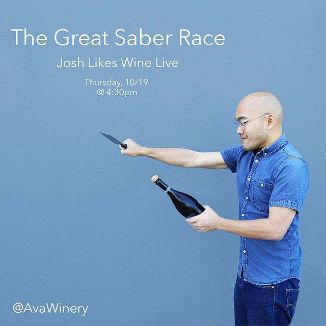 The #wine games continue. Tune in this Thursday at 4:30pm PST to #joshlikeswine Live to see who wears the champion title for another week.  #wine #winery #winetime #winery #winetasting #sabering #drinkup #sommelier #wineday #winelife #ilovewine #drinkinggames #sf #sfbayarea