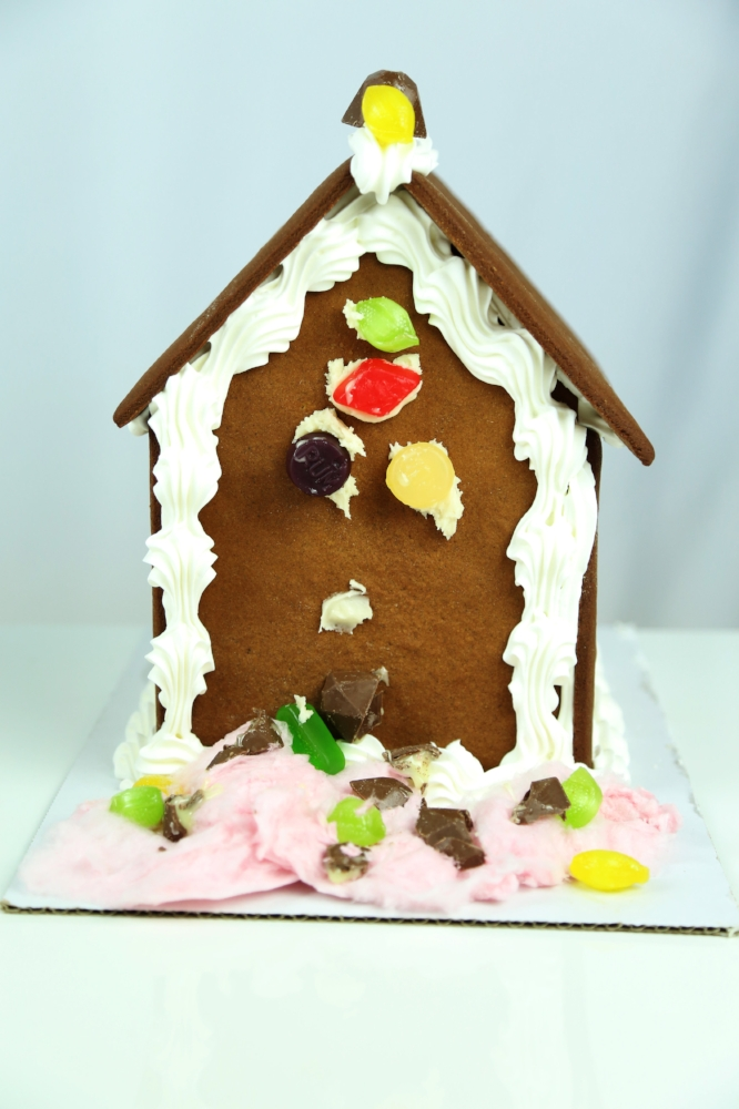 Josh's Alcohol Candied Gingerbread House. Vote below!