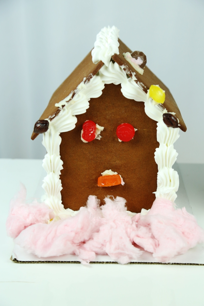 Emily's Alcohol Candied Gingerbread House. Vote below!
