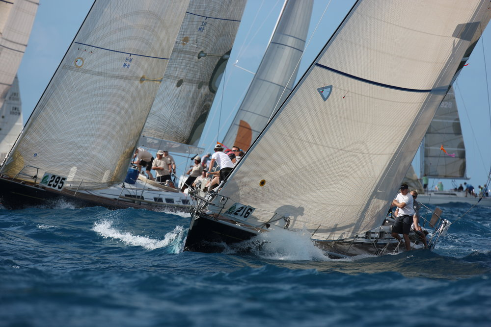 "Swan 48 ""Affinity"" racing in the annual Sint Maarten Heineken regatta."