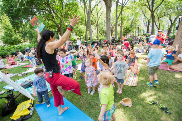Karma Kids Yoga Classes on the Union Square Park Center Lawn