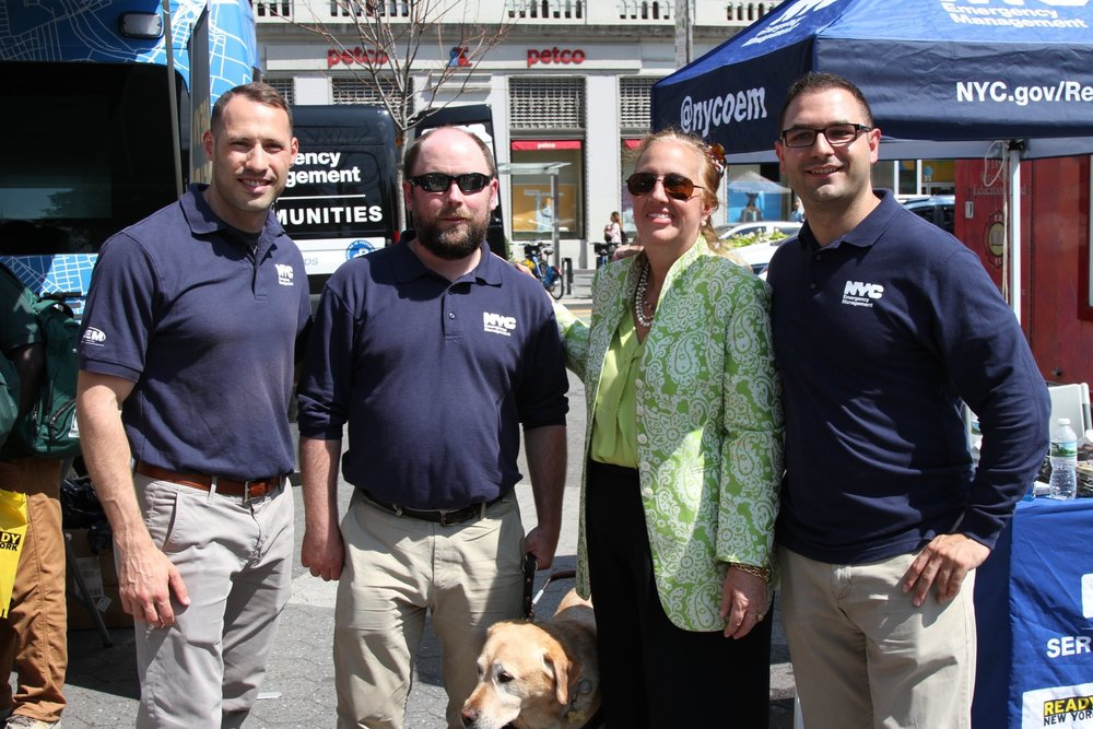 NYC Office of Emergency Management team with Manhattan Borough President Gale Brewer.  Photo Courtesy of NYC OEM