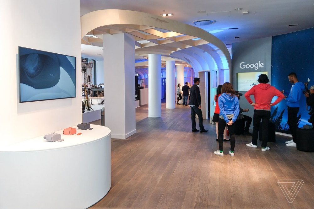 Inside the Google Pop Up at 110 5th Avenue. Photo credit:  The Verge
